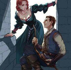 Medieval Hawkeye and Black Widow