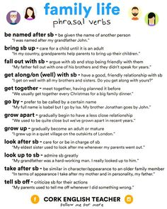 Forum | ________ Learn English | Fluent LandFamily Life Phrasal Verbs | Fluent Land