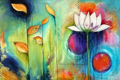 Lotus flower-Jessica Sprague is just so creative. She inspires me. And I love all the colors
