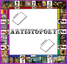 PLASTINGLISH - Visual Arts -: Art - Artistopoly monopoly