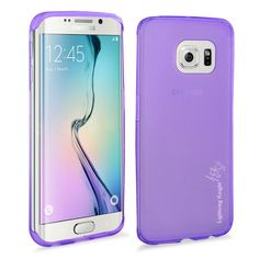 S6 Edge Case, Galaxy S6 Edge TPU Case,LK [Ultra Slim] [Perfect Fit] [Scratch Resistant] Jelly Series TPU Gel Rubber Soft Skin Silicone Protective Case Cover for Samsung Galaxy S6 Edge + Stylus Pen (Jelly Series - Purple)