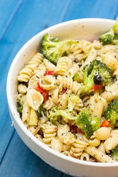 Zesty Italian Pasta Salad - Yellow Bliss Road