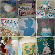 Lots of blue at this Cinderella party!  All it needs is a visit from Cinderella by Princesscapades Princess Parties! www.princesscapades.com