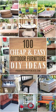 Give your outdoor living space a makeover on a budget with these cheap and easy Outdoor DIY furniture ideas. From tables to chairs, there are plenty of outdoor patio and backyard ideas to choose from Small Patio Ideas On A Budget, Budget Patio, Diy On A Budget, Backyard Ideas, Large Backyard, Cheap Backyard Makeover Ideas, Backyard Designs, Patio Design, Exterior Design