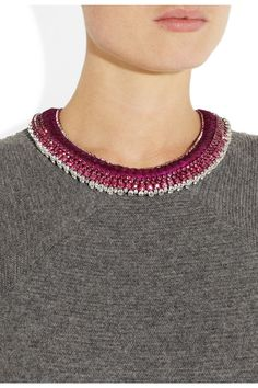 Alyssa Norton Braided silk and diamanté necklace NET-A-PORTER.COM
