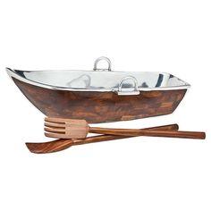 rowboat serving set