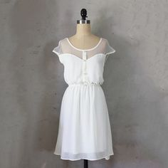 shower? love the spearmint one! Petit Dejeuner Dress Ivory, $43, now featured on Fab.