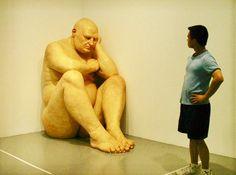 Ron Mueck hyperréalisme  Big man 1998