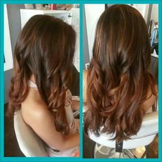 Natural Auburn balayage ombre
