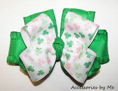 St. Patrick's Day Green Ruffle Hair Bow