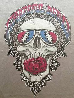 "New! Grateful Dead ""SYF Skull"" Classic Rock Band Jerry Garcia Licensed T-Shirt"