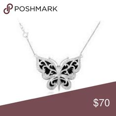 1/3 CARAT Diamond Butterfly Pendant In Sterling Silver originally from walmart. com Heavy necklace only worn a few times for a few hours like new condition original price tag included Jewelry Necklaces