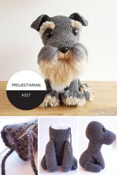 Check out this amazing FREE crochet pattern at the Projectarian blog today! Such a cute, life-like doggy with instructions on how to make your own fur, too! http://www.projectarian.com/2017/01/09/amigurumi-dog-fur-free-crochet/