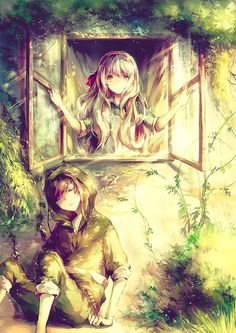 Beautiful anime couple Mekaku City Actors (kagerou project) - Seto x Marry Anime Love, Awesome Anime, Anime Guys, Manga Anime, Manga Art, Anime Pokemon, Cosplay Pokemon, Photo Manga, Anime Couples