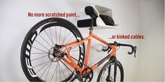 Bike wall mount and cycling storage solutions. Modern and fun bicycle racks that look awesome with or without bike. Space saving pedal hooks for multiple bikes.