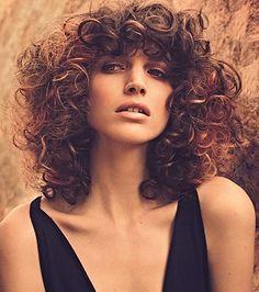 Love curly bangs!!