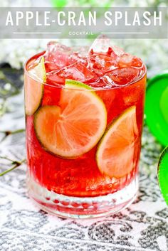 A summer cocktail made with Alize French Vodka, cranberry, and lime, this is an easy cocktail to make! Apple-Cran Splash Cocktail #AlizeApple [ad}