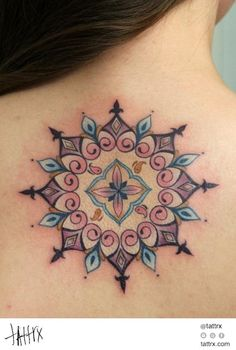 Anna Belozyorova - Pastel Mandala #ink #tattoo
