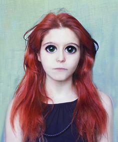 """""""Big Eyes"""" - """"Big Eyes"""" Self-portrait  Pic inspired in (inspirada en): Margaret Keane"""