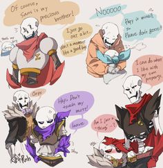 The different AU's. I don't like SwapFell