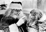 George McClintock at Santa's Village in the San Bernardino National Forest. McClintock's beard is his own.