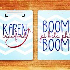 Pi Beta Phi clipboard- boom boom! #piphi #pibetaphi