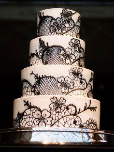 50 Prettiest Wedding Cakes!TheKnot.com -