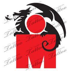 Marketplace Tattoo ironman triathlon dragon #14645   CreateMyTattoo.com