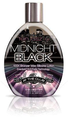 #2 Tan Asz U Midnight Black 100x Bronzer Tanning Lotion