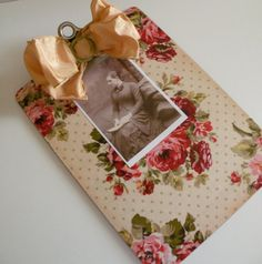 Vintage Clipboard Upcycled to Display Art Photos 25 .00 by Spaghetteria