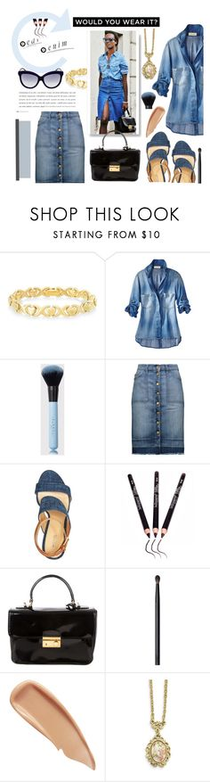 """Sin título #221"" by fash-outfit ❤ liked on Polyvore featuring Signature Gold, Current/Elliott, Prada, NARS Cosmetics, Sisley, 1928, contest and denim"