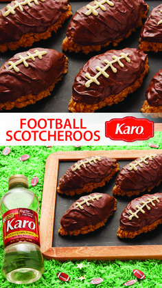 For a sweet treat on game day, look no further than Football Scotcheroos, made with Karo Corn Syrup.