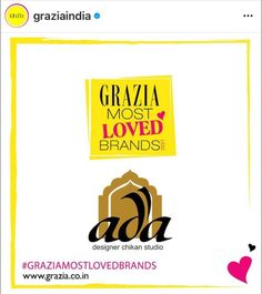 The brand brings forward a fresh perspective on the craft of Lucknow #chikankari by fusing it with other needle crafts of Awadh on the finest fabrics creating a delicate balance between the age old legacy and contemporary fashion. We're more than happy to share this shining new badge in our bag of achievements! Thank you #Grazia for recognising our efforts! #adachikan #artisanmade #craftsofindia #graziaindia #graziamagazine #graziamostlovedbrands #gmlb2021 #indianfashion #graziaspotlight