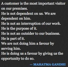 Gandhi on Customer Service
