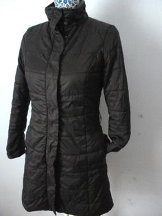Sisley Ladies Girls Puff Quilted Padded Winter Long Coat Jacket Parka Black 8 10