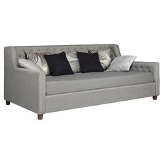 Jordyn Upholstered Daybed - Gray (Twin) : Target
