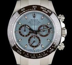 Rolex Platinum Ice Blue Dial Brown Ceramic Bezel Daytona B&P 116506 Burberry Men, Gucci Men, Hermes Men, Rolex Watches For Men, Luxury Watches, Men's Watches, Rolex Daytona Watch, Used Rolex, Tom Ford Men