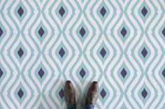 Teardrop Pattern Flooring, leading Vinyl Flooring designed and manufactured by Atrafloor. Bring any design concept to life as Flooring. Retro Vinyl Flooring, Kitchen Vinyl, Patterned Vinyl, Blue Color Schemes, Royal Blue Color, Higher Design, Floor Patterns, Vinyl Wall Art, Floor Design