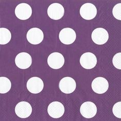 Big Dots Plum Purple Lunch Napkins - Polka Dot - Patterns PlatesAndNapkins.com
