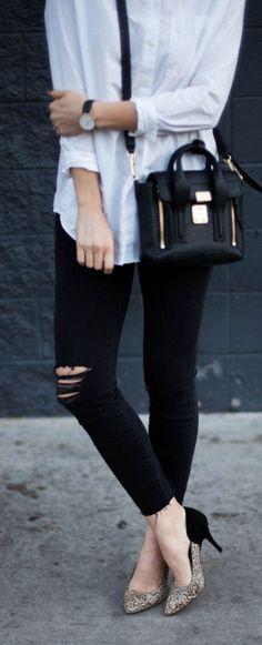 Black And Beige Front Glitter Stilettos