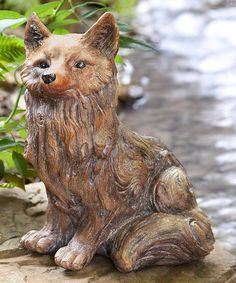 Another Great Find On #zulily! Fox Garden Statue #zulilyfinds | Gardening |  Pinterest | Garden Statues, Gardens And Yards