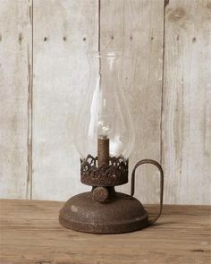 OIL LAMP PART CLEAR GLASS CHIMNEY  C9554