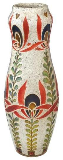 Zsolnay - Vase with Hungarian motif, Zsolnay, around 1903  Design by Sandor Apati Abt