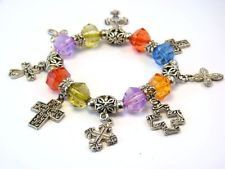 Vintage Religious Crucifix Crosses Silver Tone Charm and Beads Stretch Bracelet http://www.ebay.com/itm/Vintage-Religious-Crucifix-Crosses-Silver-Tone-Charm-and-Beads-Stretch-Bracelet-/131483584355?pt=LH_DefaultDomain_0&hash=item1e9d084763