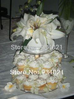 3 Tier Acrylic Round Cupcake Stand Or Acrylic Cupcake Display Wedding Decoration