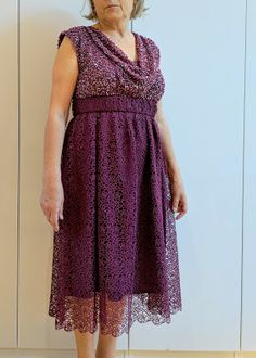 I believe I can sew...: College reunion dress for my mother -Butterick 5778