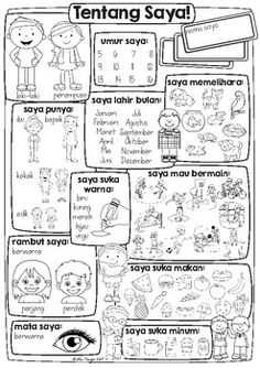 All about Me {Freebie} | Indonesian | Bahasa Indonesia