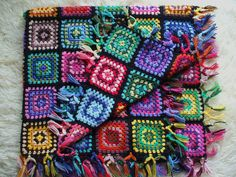 Granny square stained glass windows afghan   Flickr - Photo Sharing!