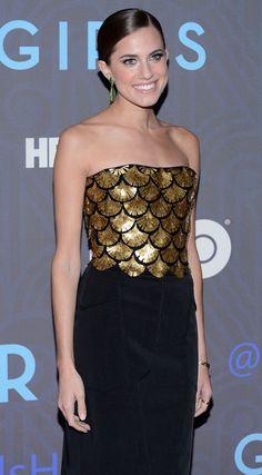Allison Williams in Altuzarra  Black Dress #2dayslook #ramirez701 #BlackDress www.2dayslook.com