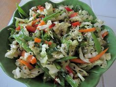 Asian Coleslaw  (from Clean Food by Terry Walters)